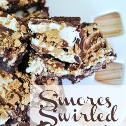 S'mores Swirled Brownies