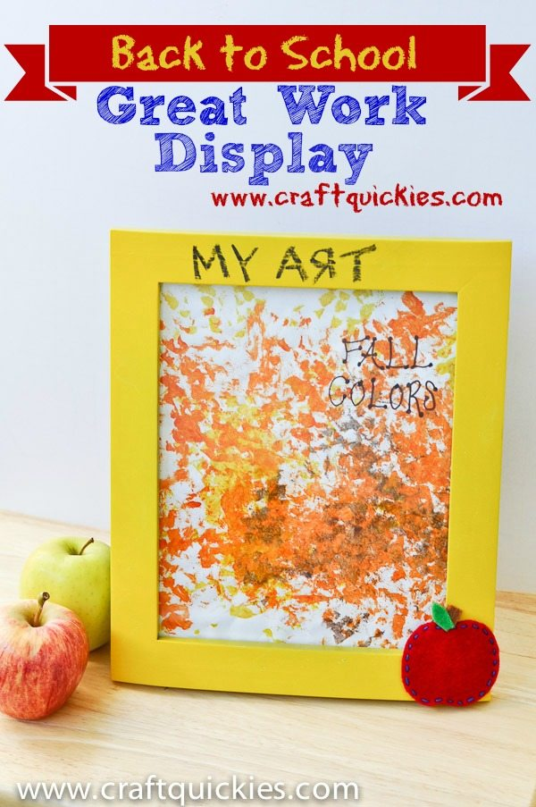 Darling schoolwork display for kids using chalkboard paint---plus nine other fun chalkboard ideas!