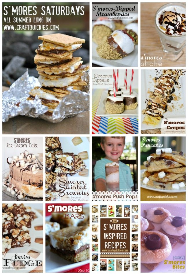 S'mores Saturdays Recipes on Craft Quickies