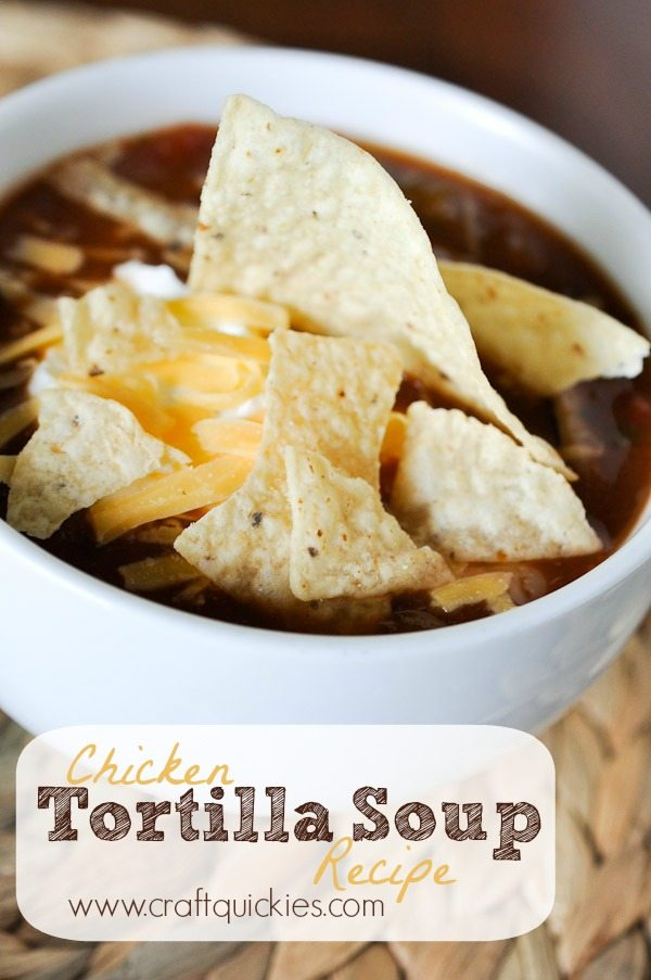The easiest chicken tortilla soup ever, but incredibly delicious!  It is one of this blogger's family staples that they make time and time again.