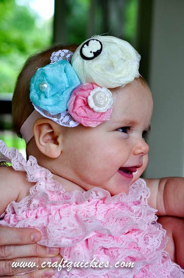Vintage Flair Rolled Flower Headband from Craft Quickies-13