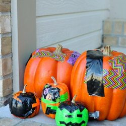 Two Ideas for Making Fun, No-Carve Duck Tape Pumpkins #StickOrTreat