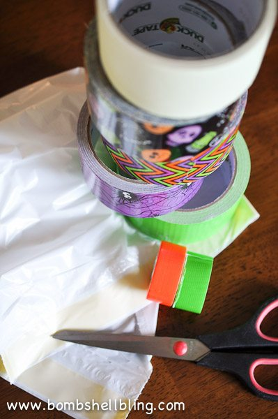 Duck Tape Trick or Treat Bag-1