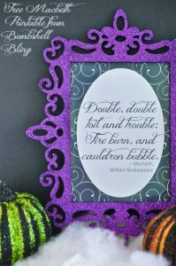 Free Macbeth Printable from Bombshell Bling