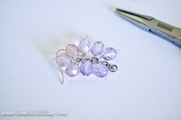 Single finished ombre earrings