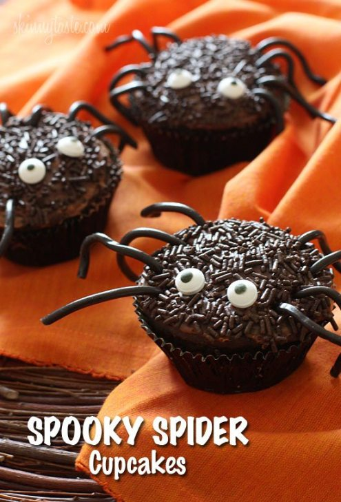 *spooky-spider-cupcakes