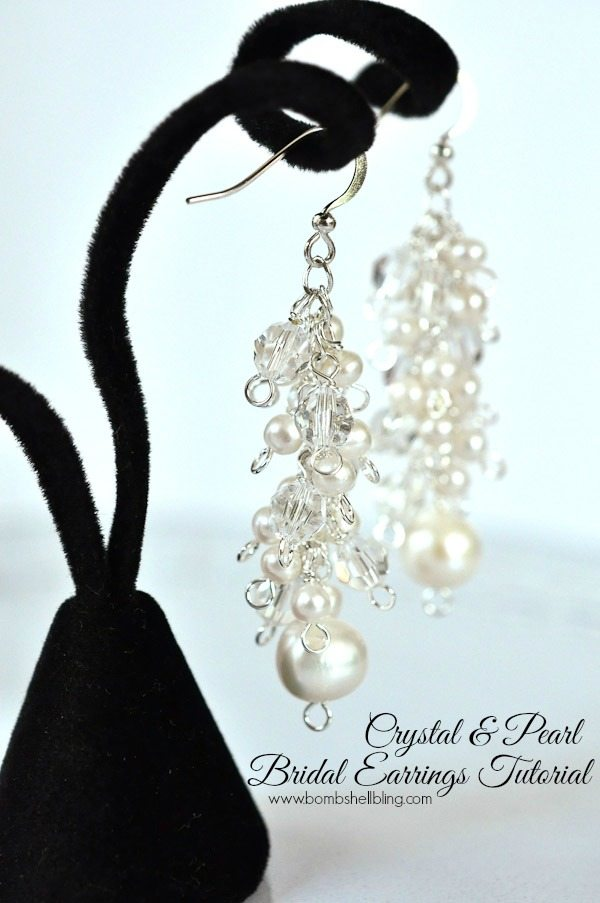 These are PERFECT wedding earrings!!  If I were getting married so I would so make them!