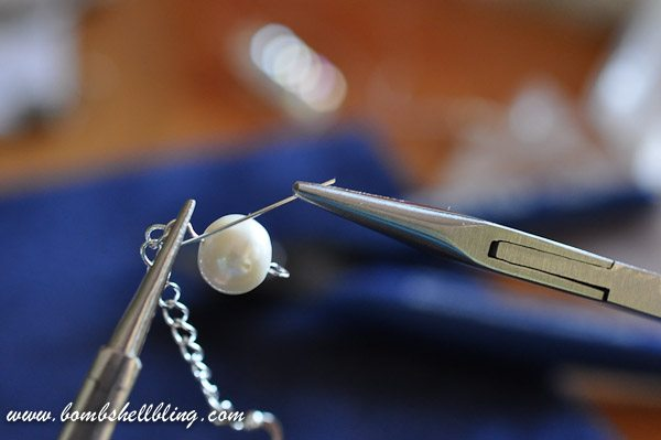 Pearl and Crystal Cluster Earrings-13