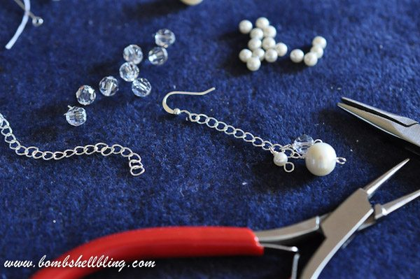 Pearl and Crystal Cluster Earrings-19