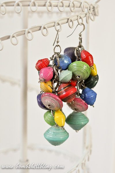 I love these funky dangling earrings!