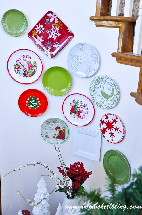 Decorative Christmas Plates For The Wall Inspiration Christmas Plate Wall Design Inspiration
