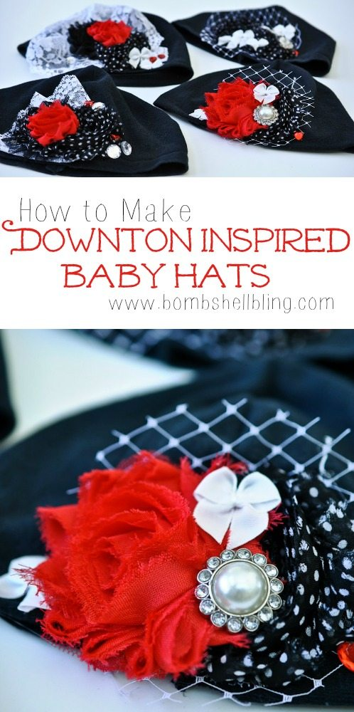 Make your little one a frilly, one-of-a-kind hat in no time at all! I love these Downton Abbey inspired ones!