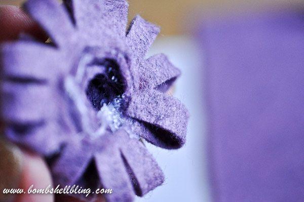 How to Make a Felt Chrysanthemum-14