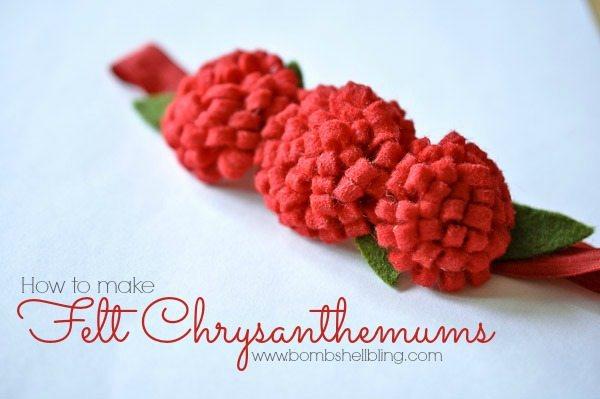 How to Make a Felt Chrysanthemum from Bombshell Bling