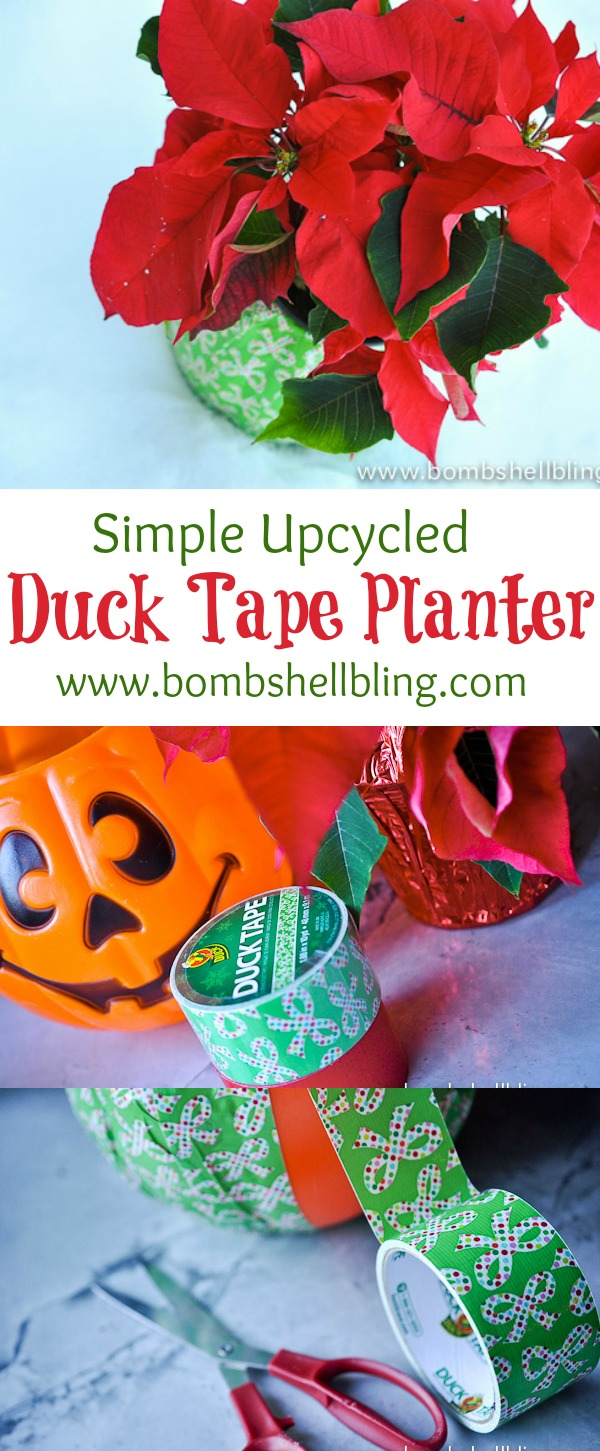 Simple Upcycled Duck Tape Planter