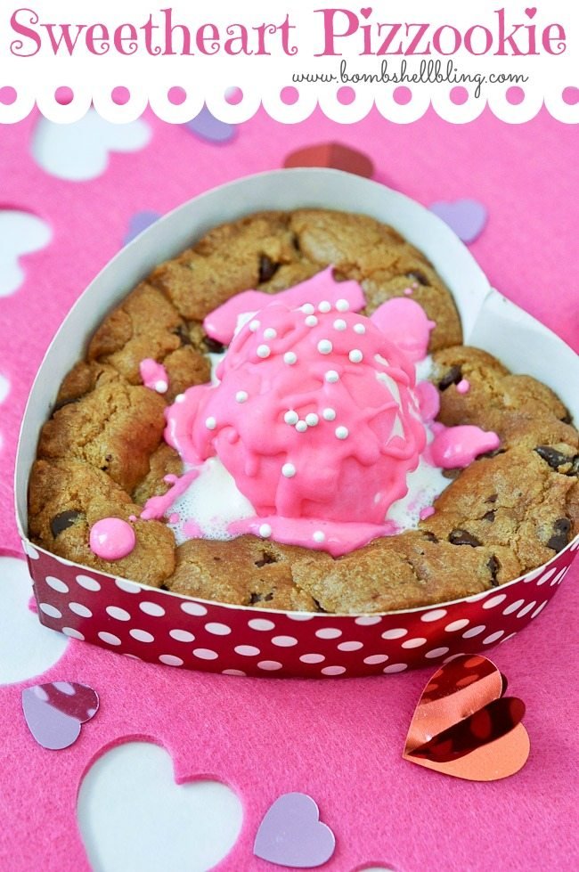 I love this gluten free Sweetheart Pizzookie recipe! So simple and so yummy!