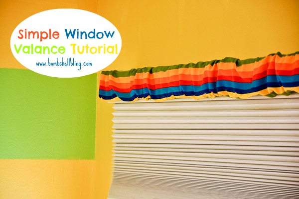 Tutorial for making a window valance in minutes! I need this!