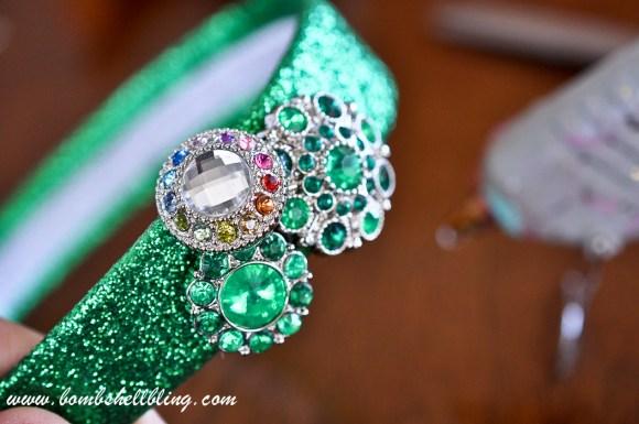St Patrick's Day Rhinestone Headband-6