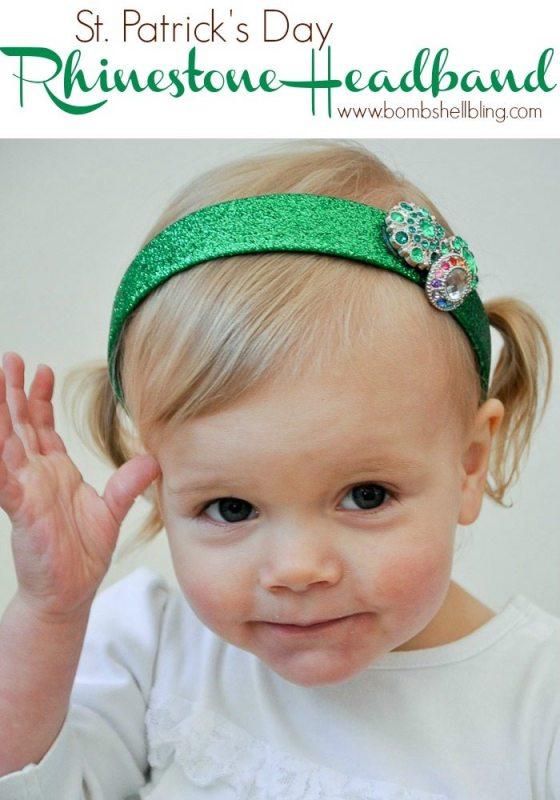 St. Patrick's Day Rhinestone Headband