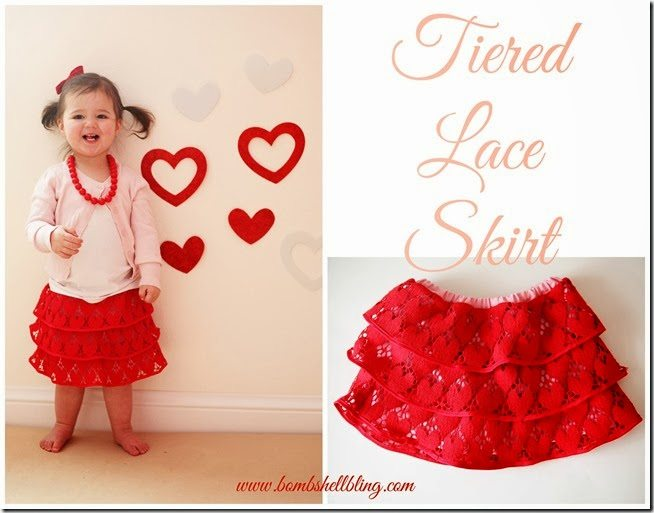 Tiered Lace Skirt Sewing Tutorial