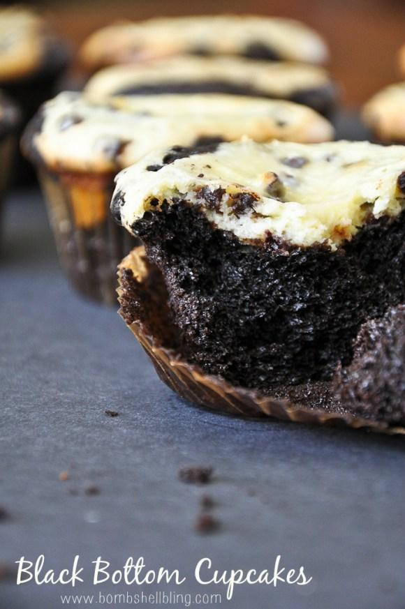 Black Bottom Cupcakes by Bombshell Bling