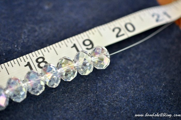 crystal and pearl necklace second strand