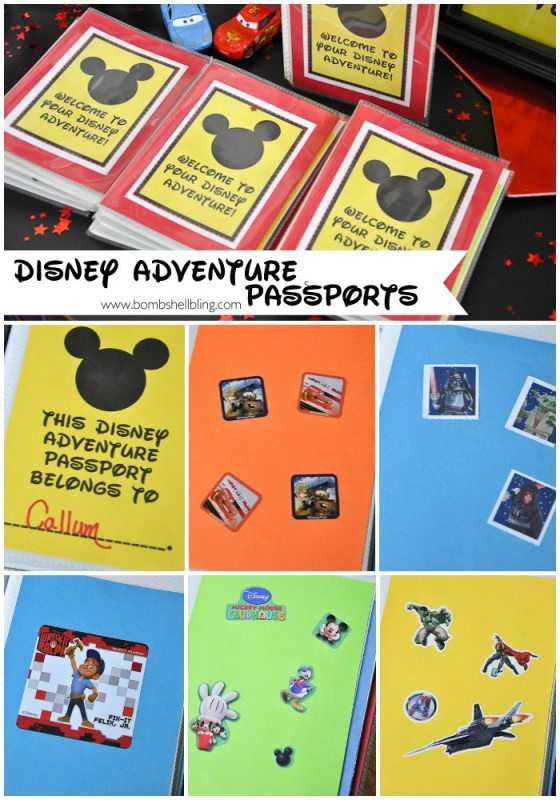 Adventure passports collage for disney birthday party