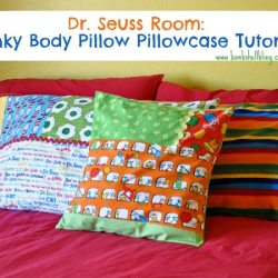 Dr. Seuss Room: Minky Body Pillow Pillowcase