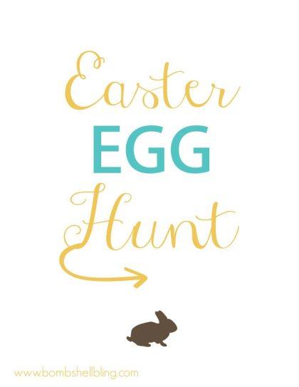 Easter Egg Hunt Printable Proof