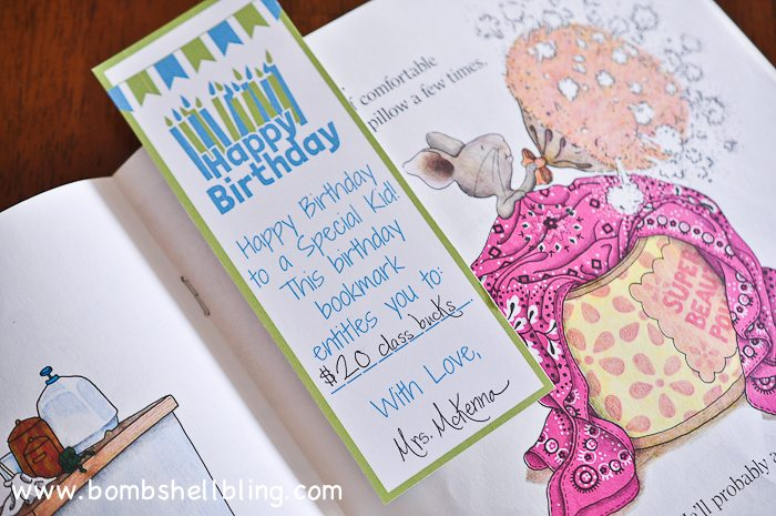 These cute birthday bookmarks are perfect for teachers and parents!