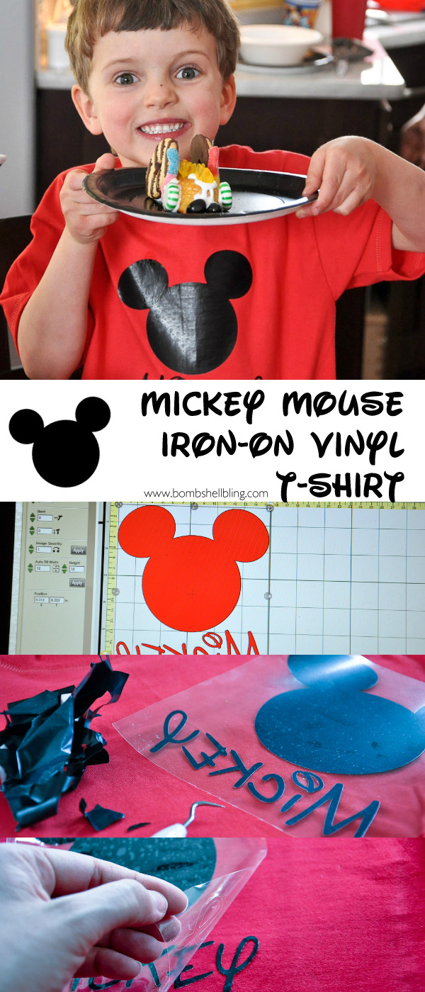 Make a classic Mickey Mouse t-shirt in MINUTES using this simple tutorial and iron-on vinyl!