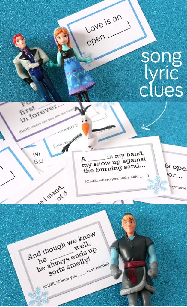 Lyric frozen songs lyrics : Frozen Scavenger Hunt