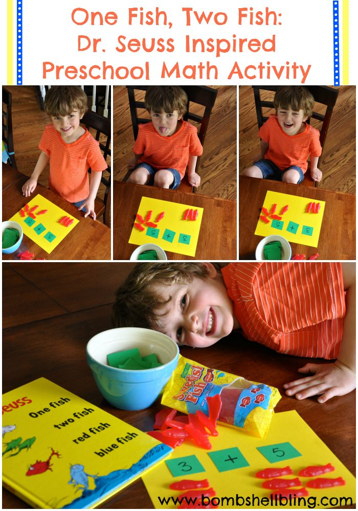Dr Seuss Inspired Preschool Math Activity