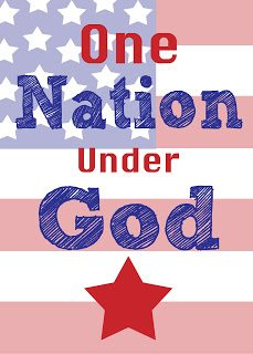 One nation under god free printable available for download at lizoncall.com