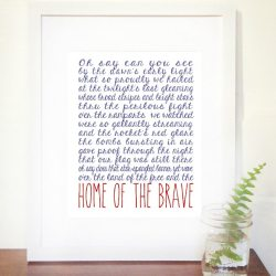 Home of the Brave Printable