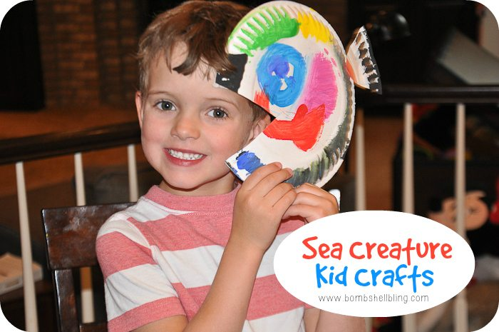 Summer Camp Sea Creature Kid Crafts
