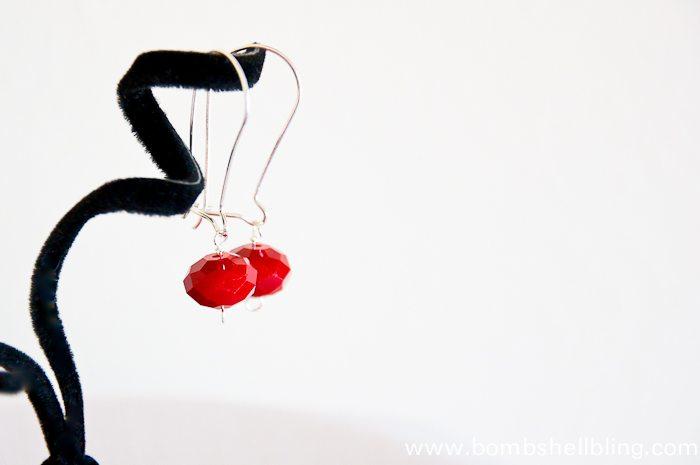 Red Dangle Earrings-1