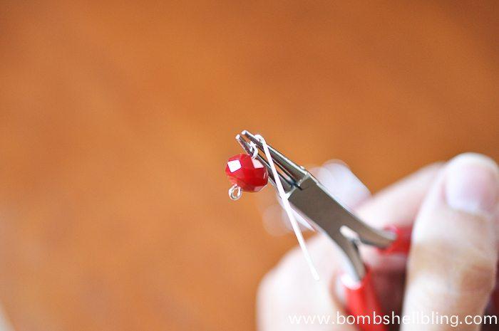 Red Dangle Earrings-5
