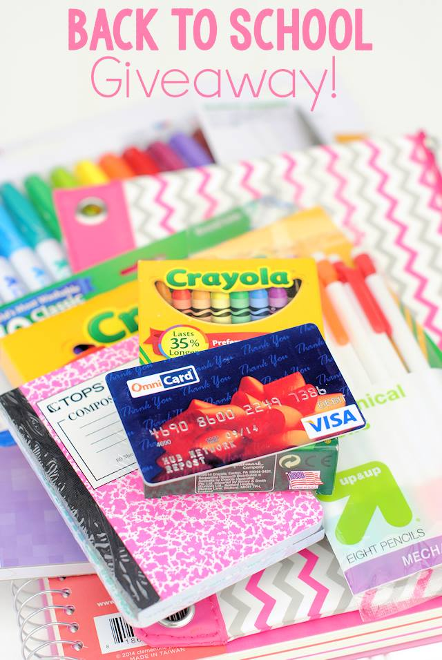 Back to school giveaway --- $20 of school supplies and $200 for back to school clothes!
