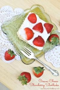 Cream Cheese Strawberry Shortcake
