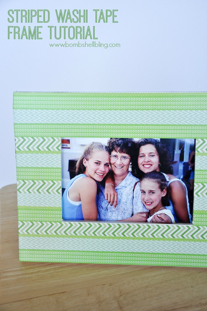 Washi tape frame with photo