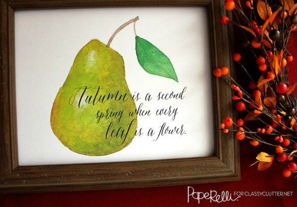 Free Fall Printables Paperelli Close Up