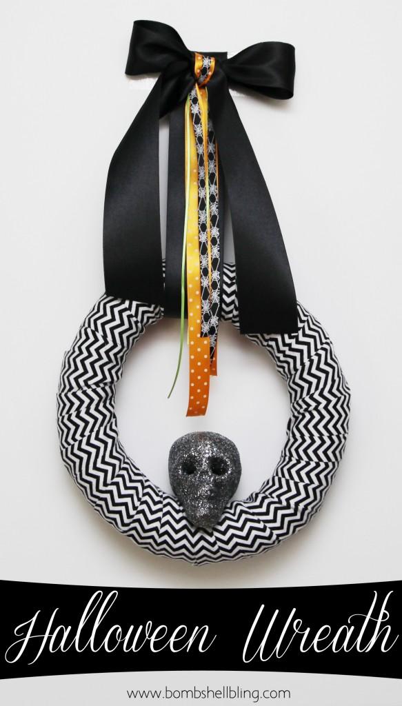 Halloween Skull Wreath Tutorial