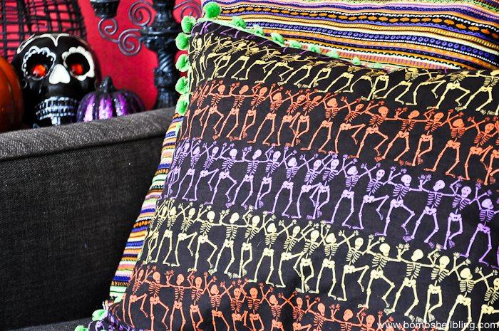 Dia De Los Muertos Pom Pom Pillows-9