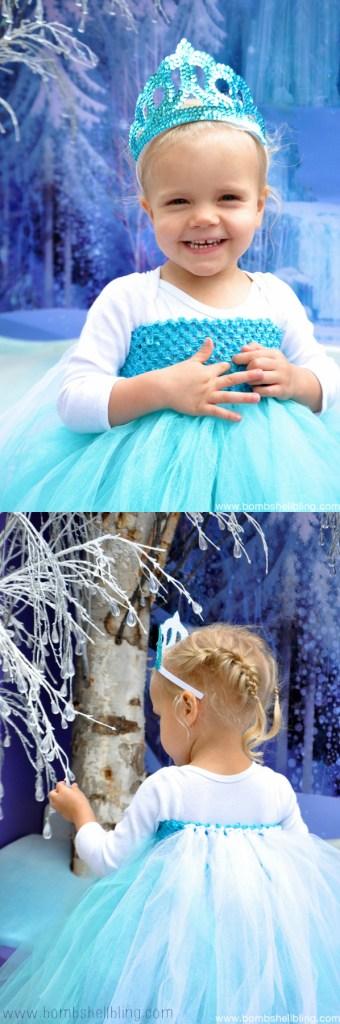 Elsa Tutu Dress collage