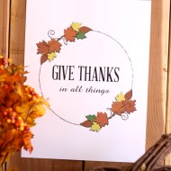 Give Thanks Thanksgiving Printable