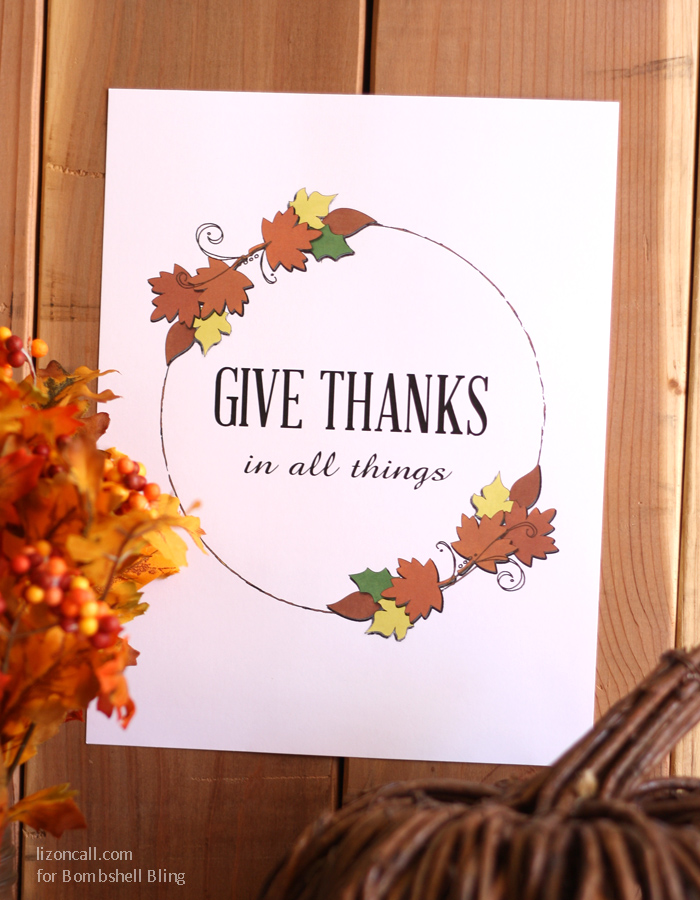 give thanks in all things free thanksgiving printable
