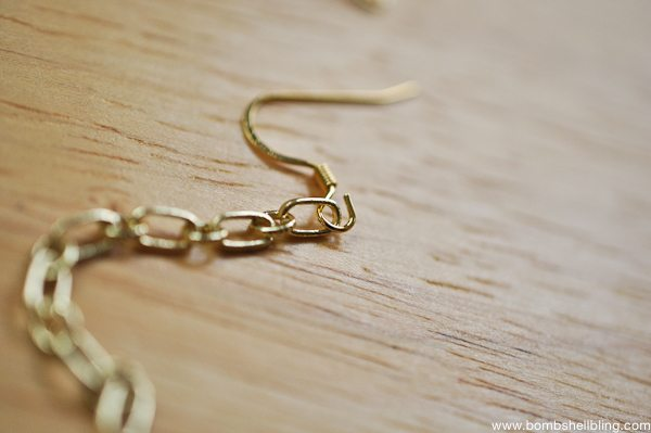 Gold & Green Earrings Tutorial CC-3