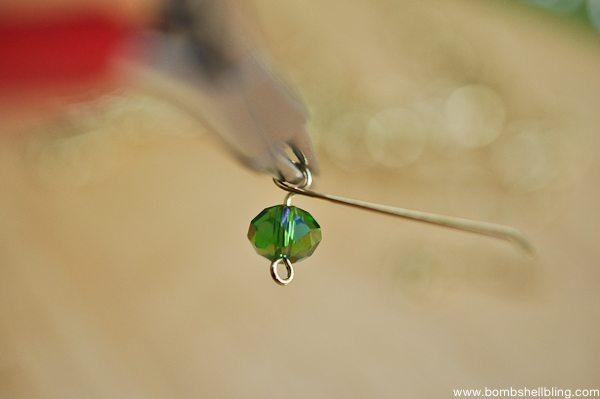 Gold & Green Earrings Tutorial CC-6