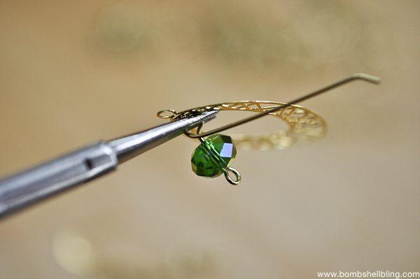 Gold & Green Earrings Tutorial CC-8